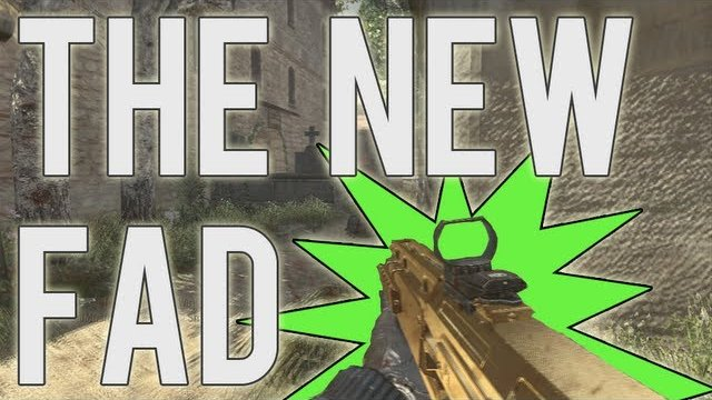 MW3: THE NEW GOLD FAD!!
