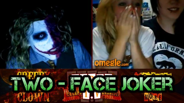 Two-Face Joker | BABY BACK RIBS TONIGHT - Omegle Scare
