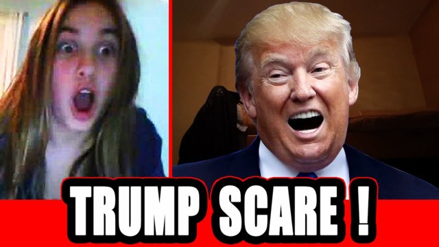 Donald Trump's Face Scares People ! (omegle)