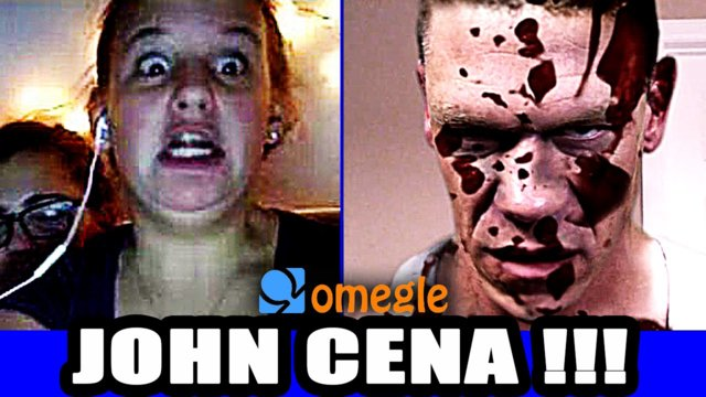John Cena Scare Prank on Video Chat : Omegle