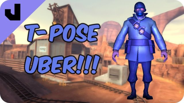 The Ubered T-Pose Attack (TF2 Clip)