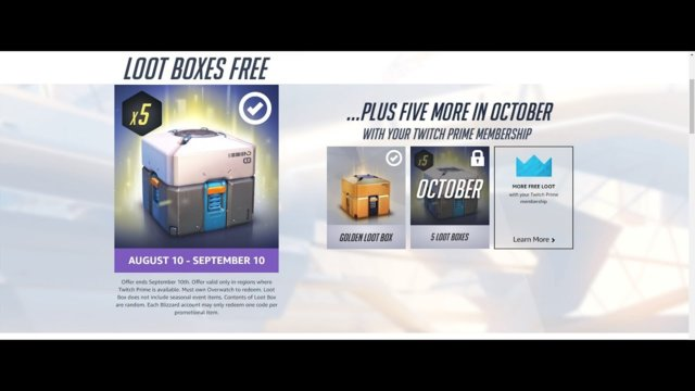 Overwatch Summer Games 2017 & New Twitch Prime Loot Boxes