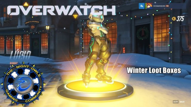 Overwatch: Opening my 6 Free Winter Loot Boxes