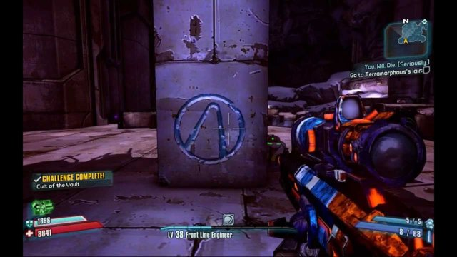 Borderlands 2 - Challenge Guide - Cult of the Vault (Fink's Slaughterhouse)