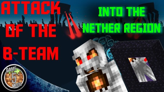 Into The Nether Region - Attack Of The B Team Modpack Letsplay Minecraft Episode 35