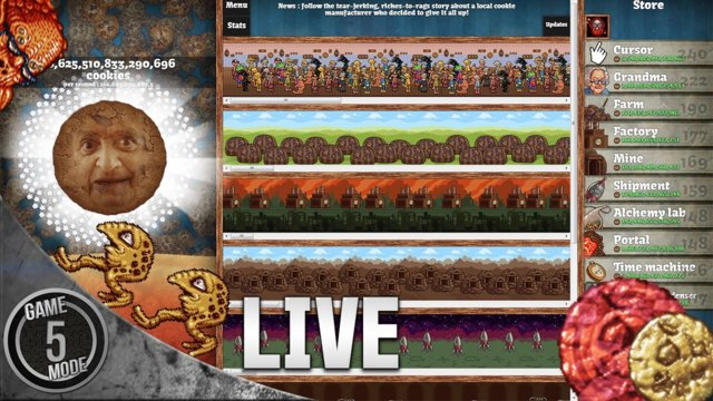 Cookie Clicker With Spitfire [LIVE]