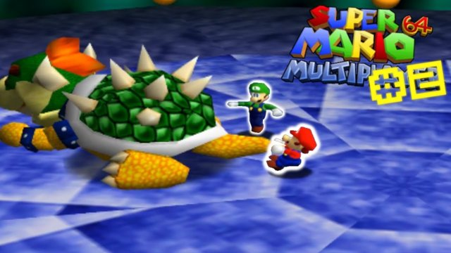 BOWSER BOSS FIGHT! - Super Mario 64 Multiplayer Hack #2