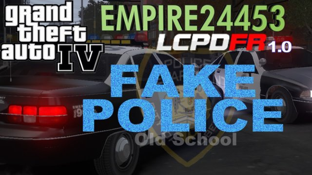 GTA IV |LCPDFR 1.0| -Fake Police {MP}