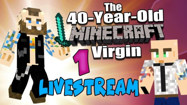 40 Year Old MINECRAFT Virgin - 1 - A Buddy Shows Me The Ropes - w/ ONSCREEN CHAT