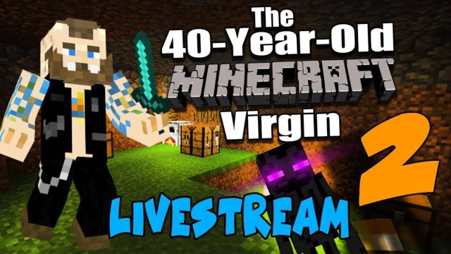 40 Year Old MINECRAFT Virgin - OMG ENDERMAN - HANGOUT #2 - w/ ONSCREEN CHAT