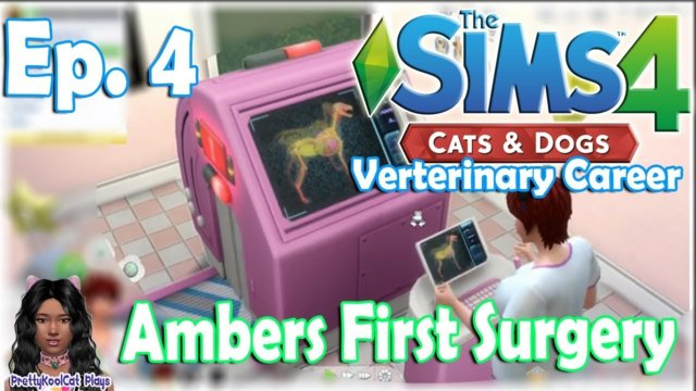 The Sims 4 Cats and Dogs - Veterinary Career - Ambers First Surgery