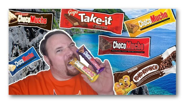 Reaction: American Tries Candy Bars From the Philippines!! - My #Kwento