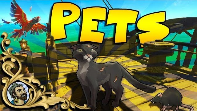 Sea Of Thieves - PETS UPDATE - Cats, Monkeys, Parrots and MEGALODON