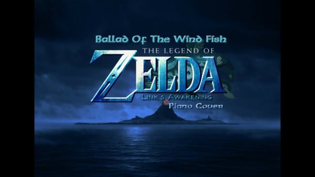 Legend Of Zelda: Links Awakening - Ballad Of The Wind Fish - Piano Cover - Connor M.