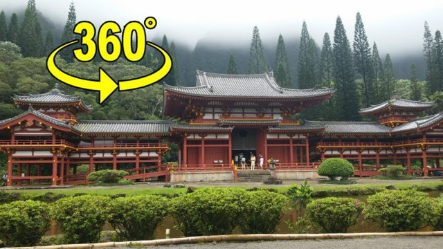 Byodo-In Temple Hawaii - VR360 Tour - without talking (Valley of the Temples Hawaii)