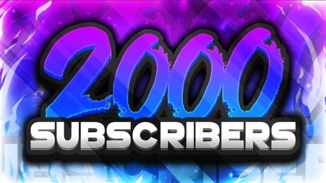 WE DID IT! 2000 SUBSCRIBERS!